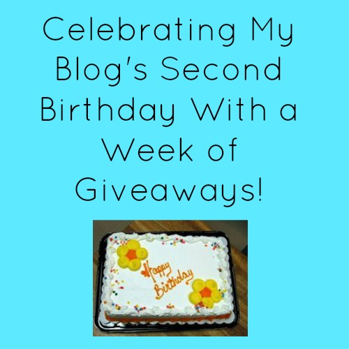 Celebrating My Blog's Second Birthday With a Week of Giveaways!