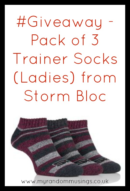 #Giveaway - Pack of 3 Trainer Socks (Ladies) from Storm Bloc