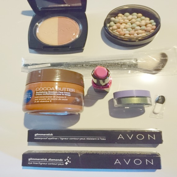A bunch of make-up for the giveaway (listed below)
