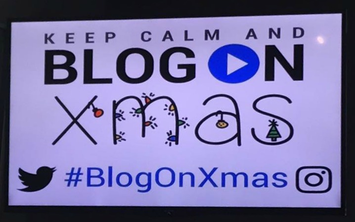 #BlogOnXmas sign