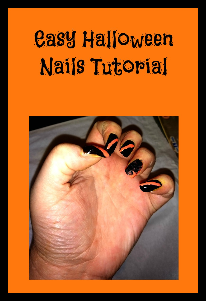 Easy Halloween Nails Tutorial feature image