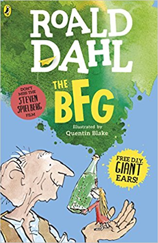 The BFG by Roald Dahl book cover (giveaway prize)